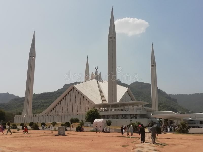 Faisal mosque Islamabad royalty free stock images