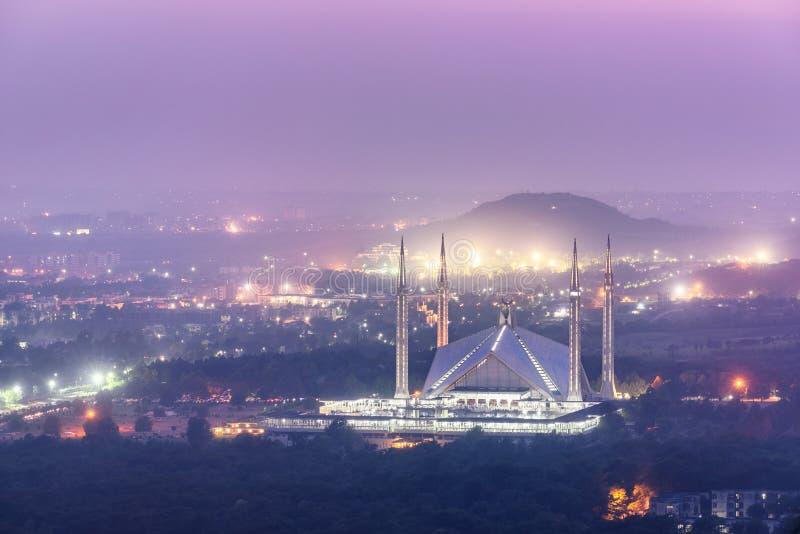 Faisal Mosque Islamabad Pakistan royalty-vrije stock fotografie