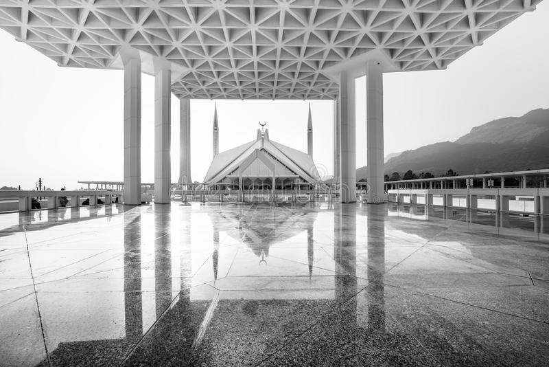 Faisal Mosque-Islamabad-Pakistan. Shah Faisal Mosque is one of major landark and attraction of Islamabad, Pakistan royalty free stock photo