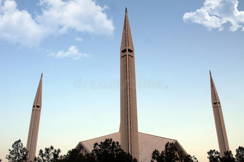 Faisal Mosque, Islamabad, Paquistán imagen de archivo libre de regalías