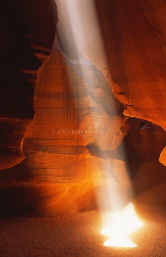 Faisceau de lumière en gorge de fente photo libre de droits