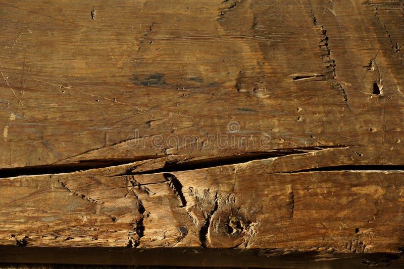 Faisceau en bois Vieille maison Tiges en bois image libre de droits