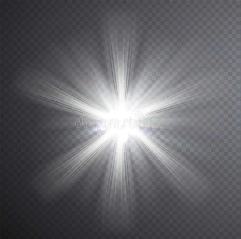 Faisceau Lumineux Blanc Effet De La Lumi 232 Re Transparent