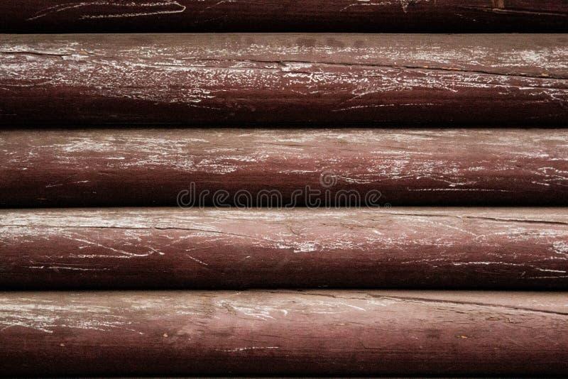 Faisceaux bruns en bois photographie stock libre de droits