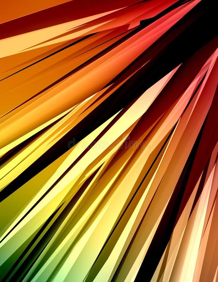 Faisceaux colorés 2 illustration stock