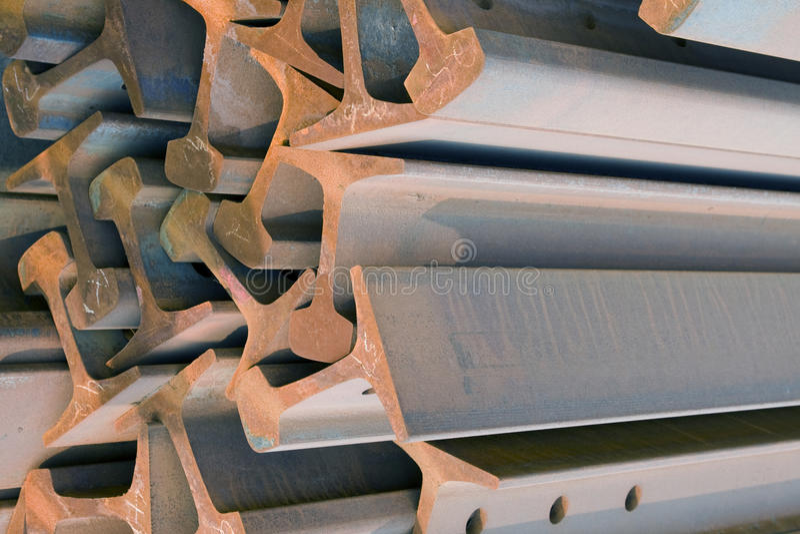 Faisceaux en acier photographie stock