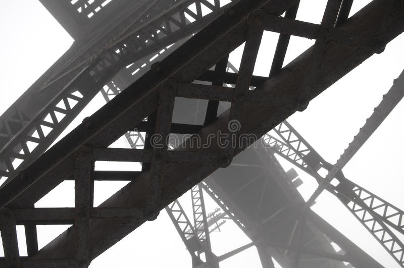Faisceaux en acier abstraits photo stock
