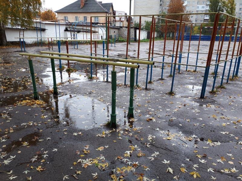 faisceaux, pluie, photo libre de droits