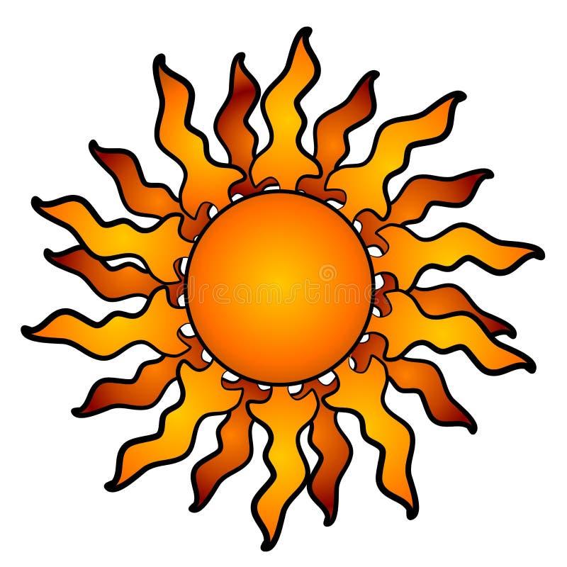 Faisceaux rougeoyants abstraits de Sun illustration libre de droits