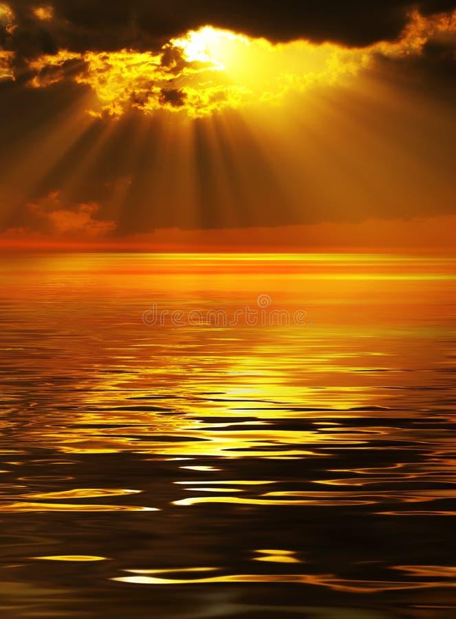 Faisceaux solaires images libres de droits