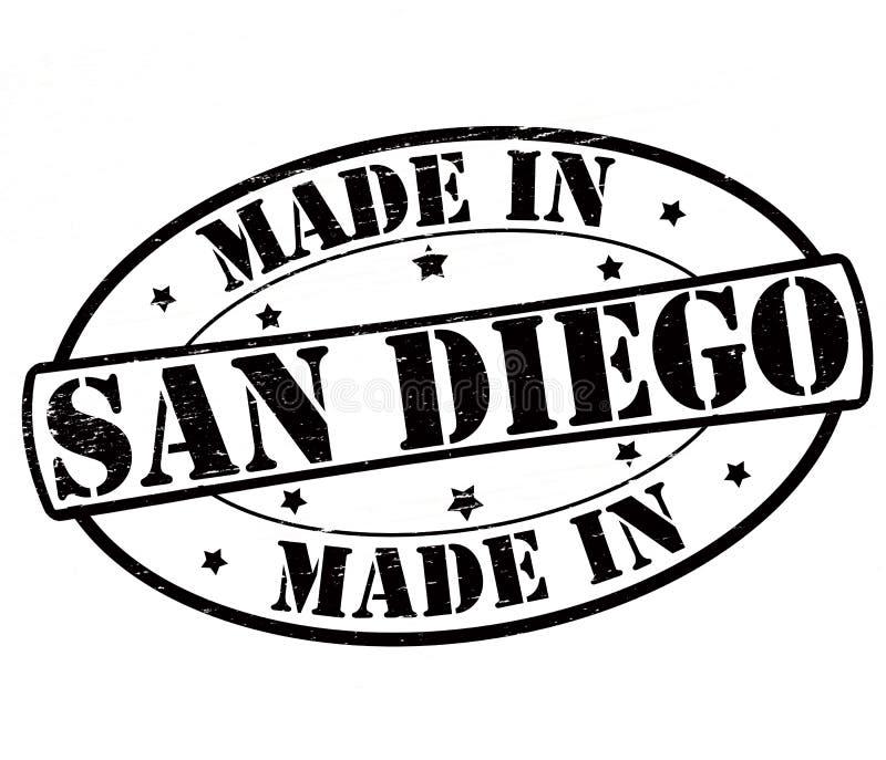 Fait à San Diego illustration de vecteur