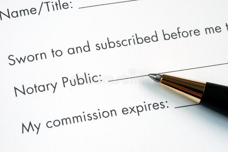 Fait certifier devant notaire par le notaire images libres de droits