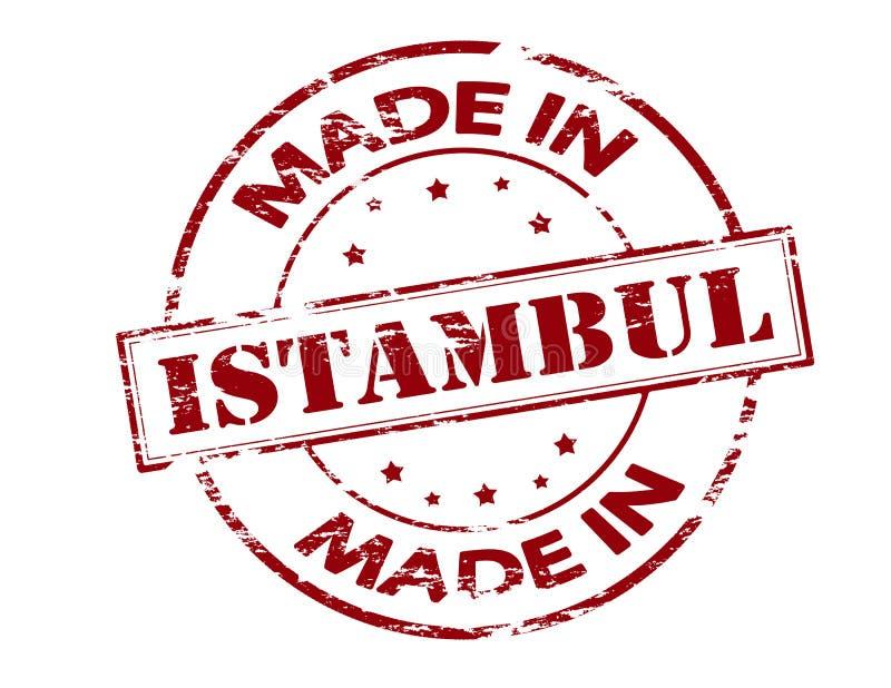 Fait dans Istambul illustration stock