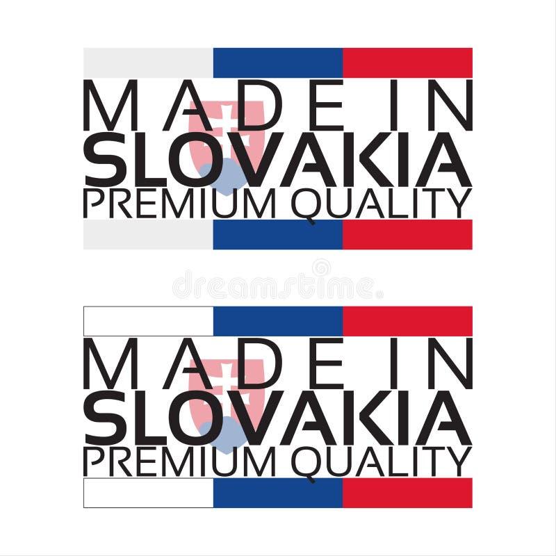 Fait dans l'icône de la Slovaquie, autocollant de la meilleure qualité de qualité illustration de vecteur