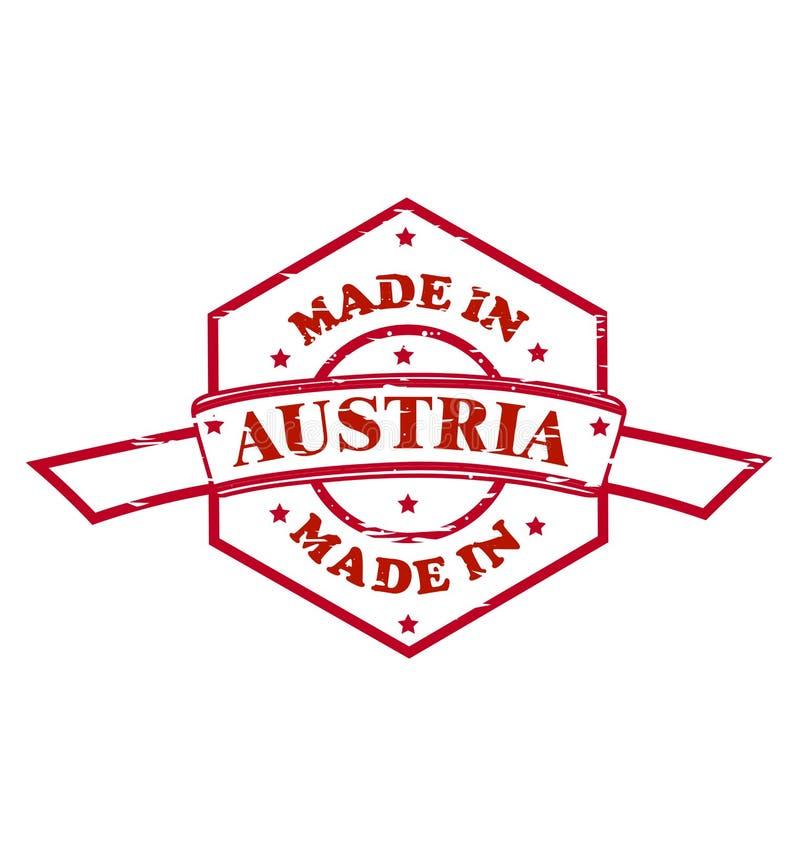 Fait dans l'icône rouge de joint de l'Autriche illustration de vecteur