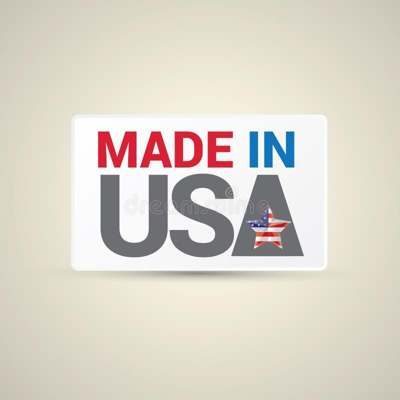 Fait dans l'icône des Etats-Unis - vecteur illustration libre de droits