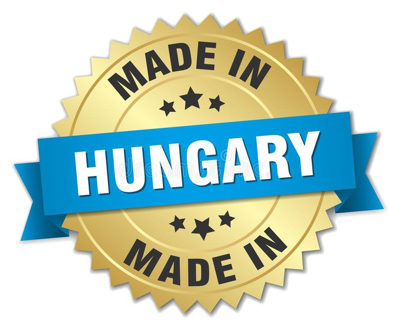 fait dans l'insigne de la Hongrie illustration de vecteur