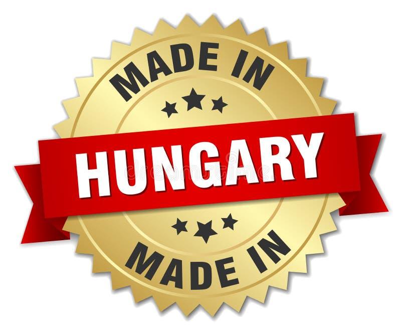 fait dans l'insigne de la Hongrie illustration stock