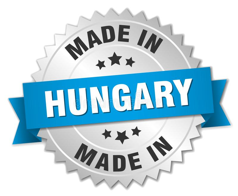 fait dans l'insigne de la Hongrie illustration libre de droits