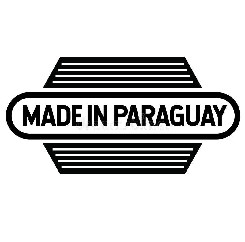 Fait dans le label du Paraguay sur le blanc illustration stock