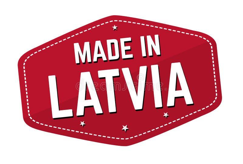 Fait dans le label ou l'autocollant de la Lettonie illustration libre de droits
