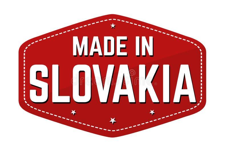 Fait dans le label ou l'autocollant de la Slovaquie illustration de vecteur