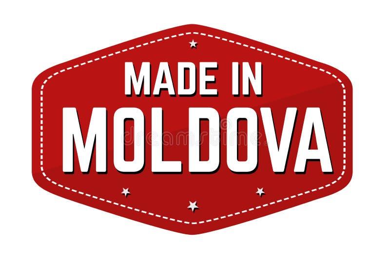 Fait dans le label ou l'autocollant de Moldau illustration stock