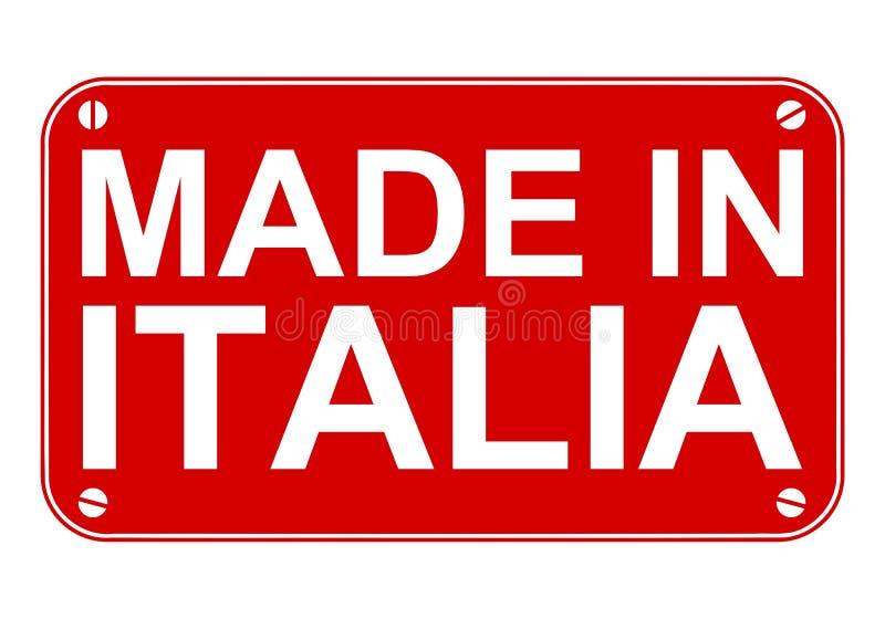 Fait dans le signe de l'Italie illustration de vecteur