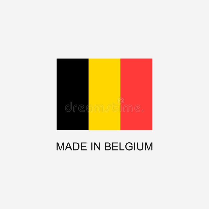 Fait dans le signe de la Belgique illustration de vecteur