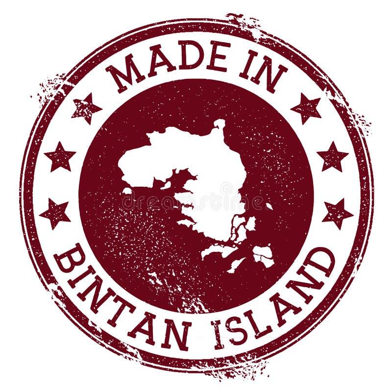 Fait dans le timbre d'île de Bintan illustration libre de droits