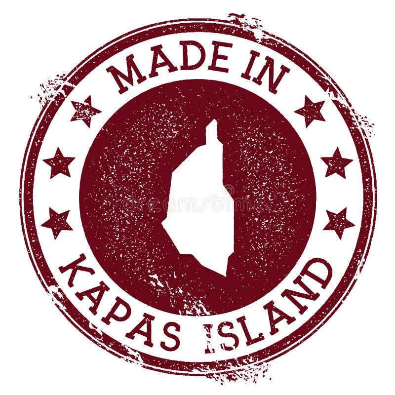 Fait dans le timbre d'île de Kapas illustration stock