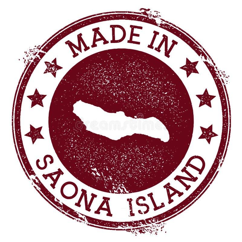 Fait dans le timbre d'île de Saona illustration libre de droits