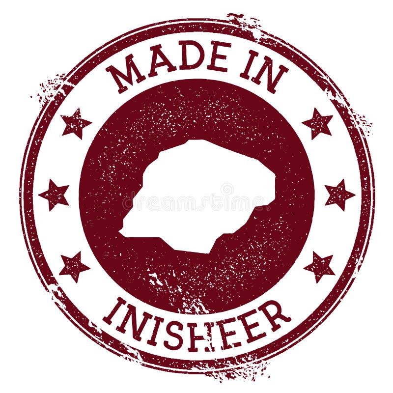Fait dans le timbre d'Inisheer illustration de vecteur