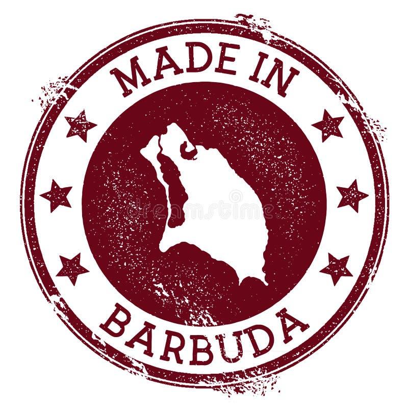 Fait dans le timbre de Barbuda illustration de vecteur