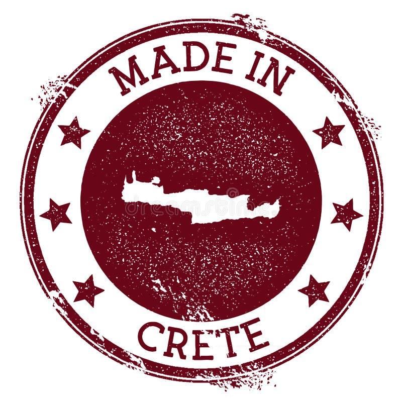 Fait dans le timbre de Crète illustration de vecteur
