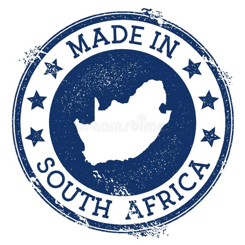 Fait dans le timbre de l'Afrique du Sud illustration de vecteur
