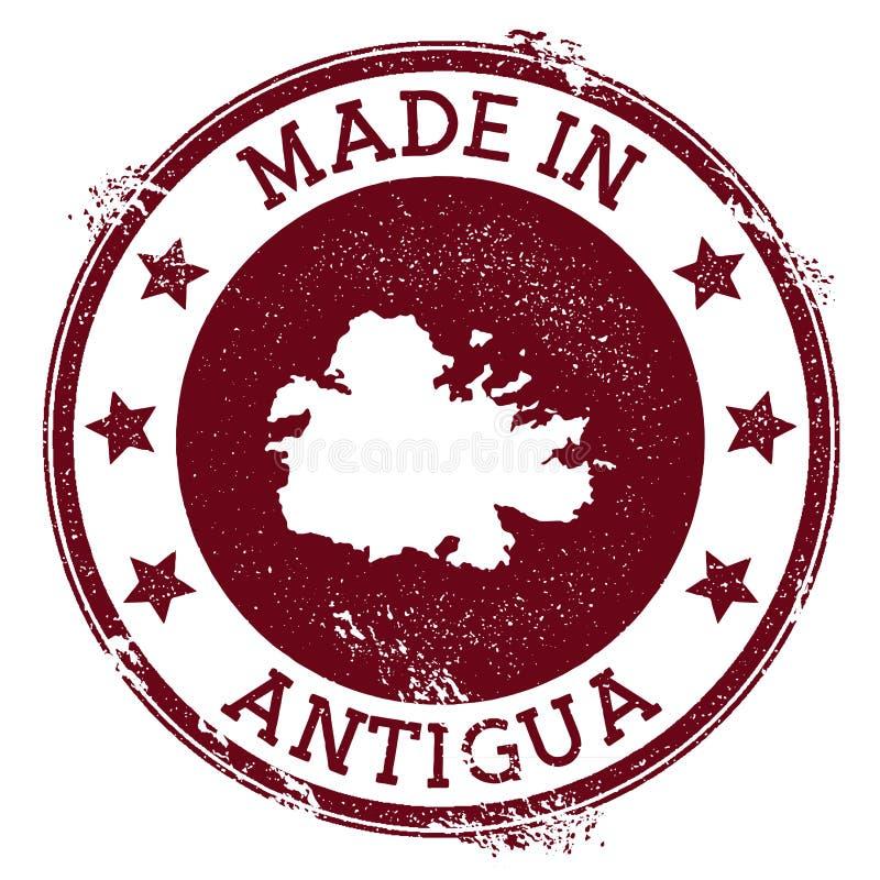 Fait dans le timbre de l'Antigua illustration libre de droits