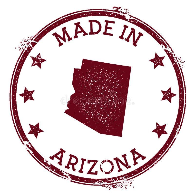Fait dans le timbre de l'Arizona illustration libre de droits