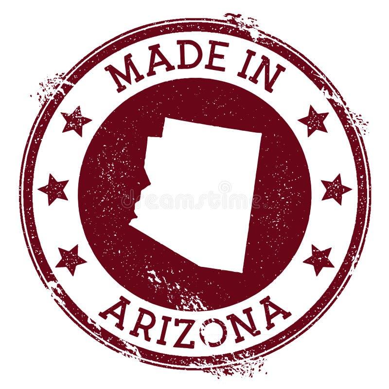 Fait dans le timbre de l'Arizona illustration stock