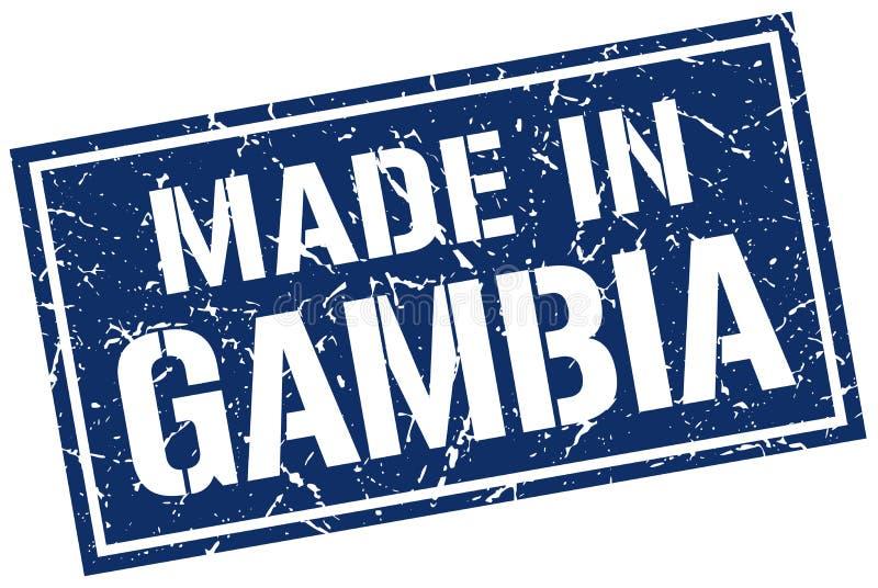 Fait dans le timbre de la Gambie illustration libre de droits