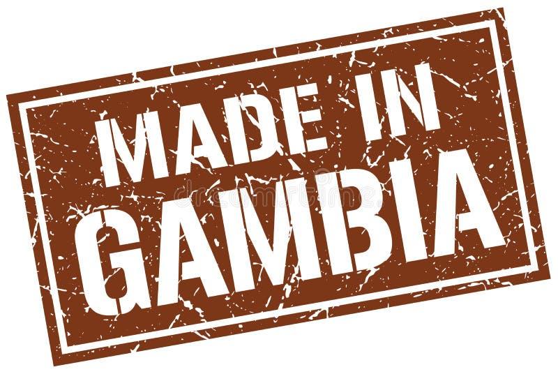 Fait dans le timbre de la Gambie illustration de vecteur