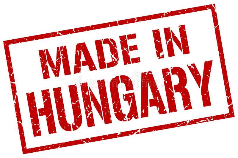 Fait dans le timbre de la Hongrie illustration de vecteur