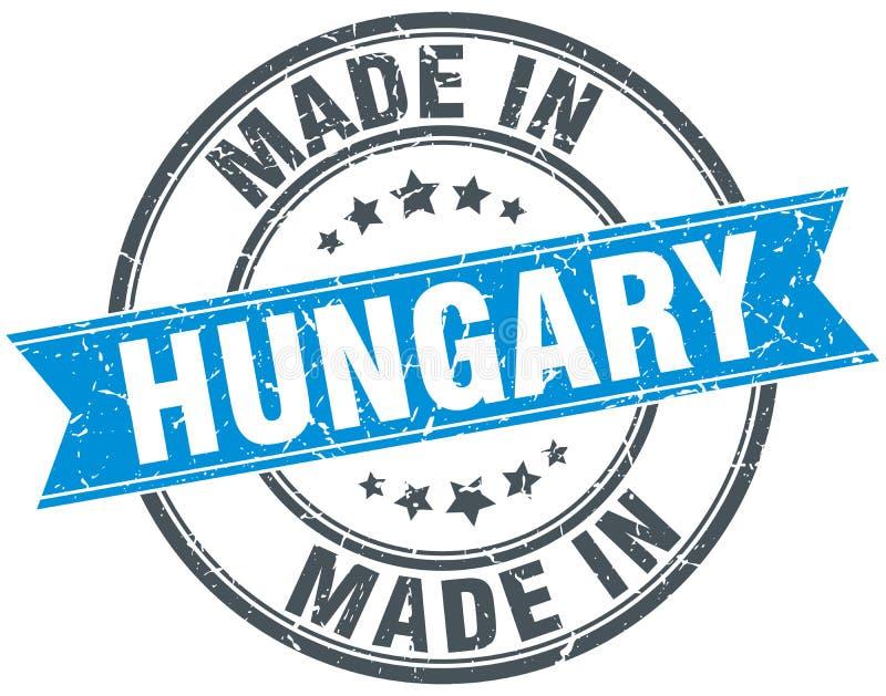 Fait dans le timbre de la Hongrie illustration stock