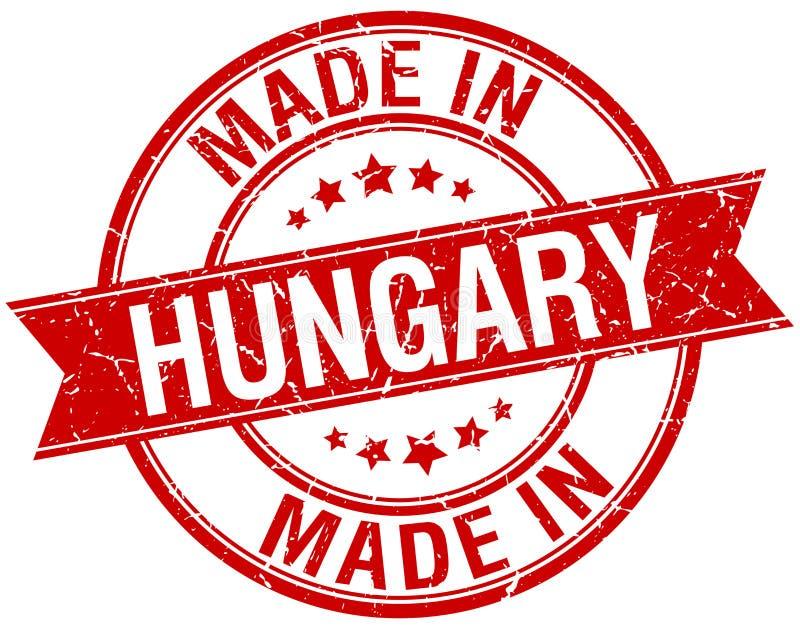 Fait dans le timbre de la Hongrie illustration libre de droits