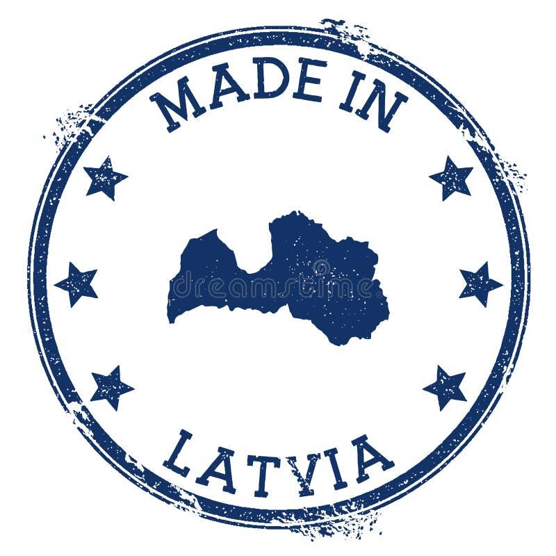 fait dans le timbre de la Lettonie illustration libre de droits