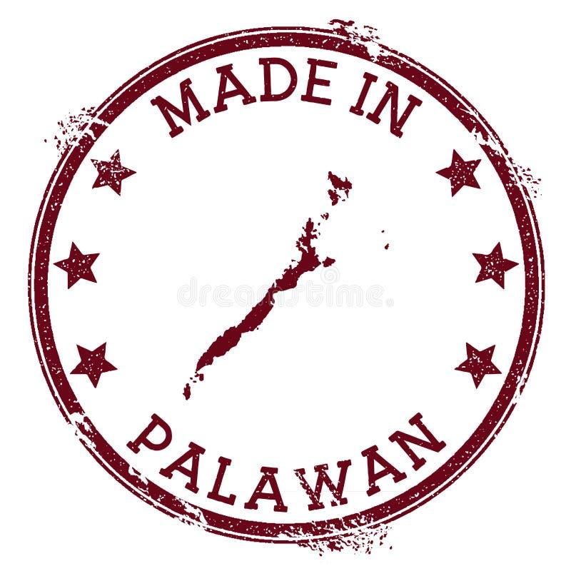 Fait dans le timbre de Palawan illustration stock