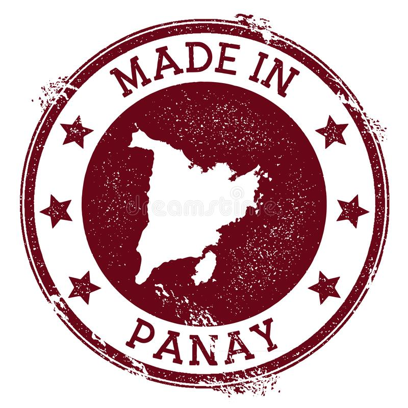 Fait dans le timbre de Panay illustration de vecteur