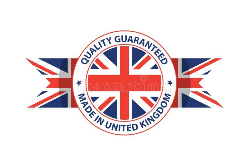 Fait dans le timbre de qualit? du Royaume-Uni Illustration de vecteur illustration de vecteur