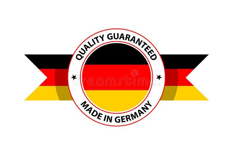 Fait dans le timbre de qualit? de l'Allemagne Illustration de vecteur illustration stock