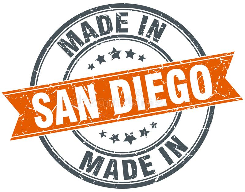 fait dans le timbre de San Diego illustration de vecteur